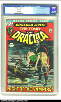 Bronze Age (1970-1979):Horror, Tomb of Dracula #1 (Marvel, 1972) CGC NM- 9.2 Off-white pages.Gerry Conway and Gene Colan bring Marvel's version of Dracula...