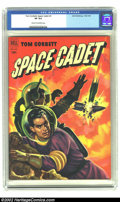 Golden Age (1938-1955):Science Fiction, Tom Corbett Space Cadet #4 (Dell, 1952) CGC VF 8.0 Cream to off-white pages. This issue has a stunning orange rocket explosi...