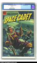 Golden Age (1938-1955):Science Fiction, Tom Corbett Space Cadet #5 (Dell, 1953) CGC VF 8.0 Cream tooff-white pages. What a stunning painted cover on this clean cop...