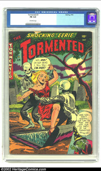 Tormented #1 (Sterling, 1954) CGC FN 6.0 Off-white pages. Overstreet 2002 FN 6.0 value = $75. From the collection of Bob...