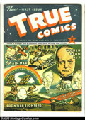 Golden Age (1938-1955):Non-Fiction, True Comics #1 (Parents' Magazine Institute, 1941) Condition: FN.Winston Churchill cover and story. Overstreet 2002 FN 6.0 ...