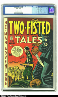 Two-Fisted Tales #20 Gaines File Pedigree (EC, 1951) CGC NM+ 9.6 Off-white to white pages. Jack Davis, Harvey Kurtzman a...