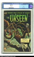 Golden Age (1938-1955):Horror, The Unseen #5 (Standard, 1952). A living tree, surrounded byskeletons, is about to claim its next meal on the cover of this...
