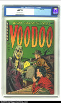 Golden Age (1938-1955):Horror, Voodoo #1 (Farrell, 1952) CGC FN/VF 7.0 Cream to off-white pages.Wild pre-Code horror with a classic Matt Baker South Sea g...