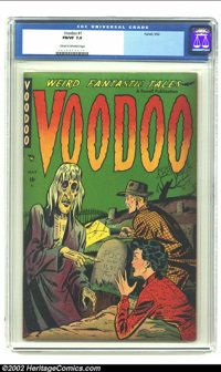 Voodoo #1 (Farrell, 1952) CGC FN/VF 7.0 Cream to off-white pages. Wild pre-Code horror with a classic Matt Baker South S...
