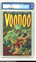 Golden Age (1938-1955):Horror, Voodoo #2 (Farrell, 1952) CGC VF- 7.5 Cream to off-white pages. Atruly wonderful image with the zombie men trying to take c...