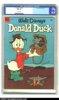 Golden Age (1938-1955):Cartoon Character, Walt Disney's Donald Duck #29 (Dell, 1953) CGC NM- 9.2 Off-white pages. Donald is ready to fry up the fish he has caught, bu...