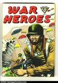 Golden Age (1938-1955):War, War Heroes #7 (Dell, 1944) Condition: VG/FN. Beautiful World War II painted cover. Overstreet 2002 GD 2.0 value = $9; FN 6.0...