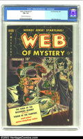 Golden Age (1938-1955):Horror, Web of Mystery #1 (Ace, 1951) CGC FN+ 6.5 Cream to off-white pages.Key horror first issue with a skull and witch doctor cov...