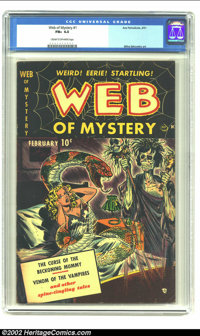 Web of Mystery #1 (Ace, 1951) CGC FN+ 6.5 Cream to off-white pages. Key horror first issue with a skull and witch doctor...