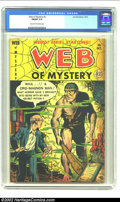 Golden Age (1938-1955):Horror, Web of Mystery #5 (Ace, 1951) CGC FN/VF 7.0 Cream to off-whitepages. Caveman (Cro-Magnon) and mad scientist cover. Overstre...