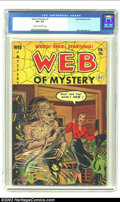 Golden Age (1938-1955):Horror, Web of Mystery #7 (Ace, 1952) CGC VF+ 8.5 Cream to off-white pages.Mummy cover. Overstreet 2002 VF 8.0 value = $145. From...