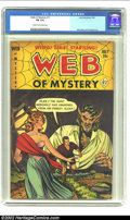 Golden Age (1938-1955):Horror, Web of Mystery #11 (Ace, 1952) CGC FN 6.0 Cream to off-white pages.Werewolf cover. Overstreet 2002 FN 6.0 value = $72. Fr...