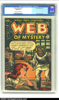 Golden Age (1938-1955):Horror, Web of Mystery #14 (Ace, 1952) CGC VG/FN 5.0 Cream to off-whitepages. Dr Jekyll and Mr Hyde cover. Overstreet 2002 GD 2.0 v...