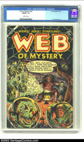 Golden Age (1938-1955):Horror, Web of Mystery #20 (Ace, 1953) CGC FN/VF 7.0 Off-white pages. Witchand cauldron cover. Overstreet 2002 FN 6.0 value = $72; ...