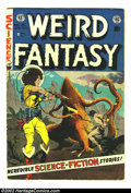 Golden Age (1938-1955):Science Fiction, Weird Fantasy #21 (EC, 1953) Condition: VG-. Cool Frank Frazettacover! Here is a beautiful EC, chock full of fantastic artw...