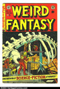 Golden Age (1938-1955):Science Fiction, Weird Fantasy #22 (EC, 1953) Condition: VG. Ray Bradburyadaptation. Here is a beautiful EC, chock full of fantasticartwork...