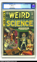 Golden Age (1938-1955):Horror, Weird Science 15 (#4) (EC, 1950) CGC FN- 5.5 Off-white to whitepages. Overstreet 2002 FN 6.0 value = $222....