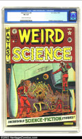 Golden Age (1938-1955):Science Fiction, Weird Science #8 (EC, 1951) CGC FN 6.0 Cream to off-white pages.Overstreet 2002 FN 6.0 value = $135....