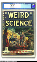 Golden Age (1938-1955):Science Fiction, Weird Science #14 (EC, 1952) CGC FN+ 6.5 Off-white to white pages.Overstreet 2002 FN 6.0 value = $93....