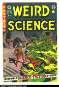 Golden Age (1938-1955):Horror, Weird Science #22 (EC, 1953) Condition: VG. Frazetta art, lastissue. Here is a beautiful EC, chock full of fantastic artwor...