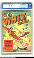 Golden Age (1938-1955):Science Fiction, Whiz Comics #128 (Fawcett, 1950) CGC VG+ 4.5 Cream to off-white pages. Basil Wolverton art. Overstreet 2002 GD 2.0 value = $...