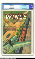 Golden Age (1938-1955):War, Wings Comics #68 (Fiction House, 1946) CGC FN/VF 7.0 Cream tooff-white pages. Part one of Phantom Falcon origin; Lee Elias ...
