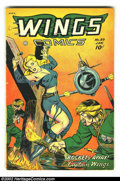 Golden Age (1938-1955):War, Wings Comics #89 (Fiction House, 1948) Condition: FN. FantasticBondage cover! Overstreet 2002 FN 6.0 value = $60....