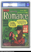 Golden Age (1938-1955):Romance, Young Romance Comics #7 Rockford pedigree (Prize, 1948) CGC VF+ 8.5Cream to off-white pages. Simon and Kirby cover and art....