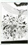 Original Comic Art:Splash Pages, Lee Weeks and Bob McLeod - Original 2-Page Splash for Spider-Man:The Mysterio Manifesto #3 (Marvel, 2001). A spectacular 2-...