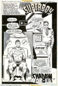 Original Comic Art:Splash Pages, Joe Staton - Original Art Splash Page for Superman Family #196 (DC,1979)....