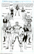 Original Comic Art:Splash Pages, Ron Lim - Original Art Splash Page for Captain America Annual #10,page 4 (Marvel, 1990). A very cool page showing Cap and h...