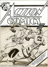 Fred Guardineer - Original Cover Art for Action Comics #16 (DC, 1939). This thrilling cover from 1939, just a few issues...