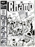 Original Comic Art:Covers, Jack Kirby and Joe Simon - Original Cover Art for Champ #23(Harvey, 1942). Covering a book that features such unforgettable...