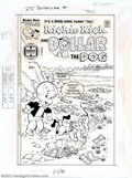 Original Comic Art:Covers, Warren Kremer - Original Cover Art for Richie Rich and Dollar theDog #1 (Harvey, 1977). Nobody 'digs' treasure like Richie ...