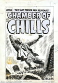 Original Comic Art:Covers, Original Art Cover for Chamber of Chills #18 (undated). A very coolhorror cover for one lucky collector to take home. Overa...