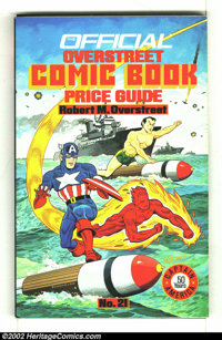Overstreet Price Guide #21 (Gemstone, 1991) Condition: VG 4.0. Alex Schomburg painted cover. Spine wear. Overstreet 2002...