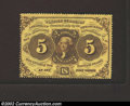 Fractional Currency:First Issue, First Issue 5c, Fr-1228, CU. This is a scarcer perforated ...