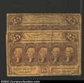 Fractional Currency:First Issue, Two note lot of First Issue 25c notes, Fr-1281, VG-Fine. This ...