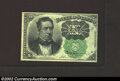 Fractional Currency:Fifth Issue, Fifth Issue 10c, Fr-1264, CU. This is the much scarcer green ...