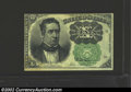 Fractional Currency:Fifth Issue, Fifth Issue 10c, Fr-1264, AU. This much scarcer green seal ...