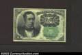 Fractional Currency:Fifth Issue, Fifth Issue 10c, Fr-1264, XF. This is the much scarcer green ...
