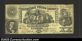 Confederate Notes:1861 Issues, 1861 $20 Industry Seated Between Cupid and Beehive; Bust of A....