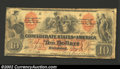 """Confederate Notes:1861 Issues, 1861 $10 Group of Indians; Thetis on left. Madein with """"X"""" on ..."""