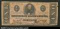 Confederate Notes:1863 Issues, 1863 $1 Clement C. Clay, T-62, VF. Some minor damage is ...