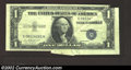 Error Notes:Foldovers, 1935-E $1 Silver Certificate, Fr-1614, Extremely Fine. A ...