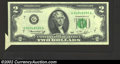 Error Notes:Attached Tabs, 1976 $2 Federal Reserve Note, Fr-1935-G, About Uncirculated. ...