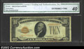 Small Size:Gold Certificates, 1928 $10 Gold Certificate, Fr-2400, XF. CGA-40 graded by this ...