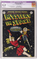 Golden Age (1938-1955):Science Fiction, Mystery in Space #1 (DC, 1951) CGC Apparent VG 4.0 Slight (P)Off-white to white pages....