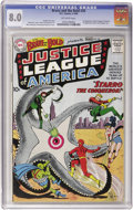 Silver Age (1956-1969):Superhero, The Brave and the Bold #28 Justice League of America (DC, 1960) CGCVF 8.0 Off-white pages....